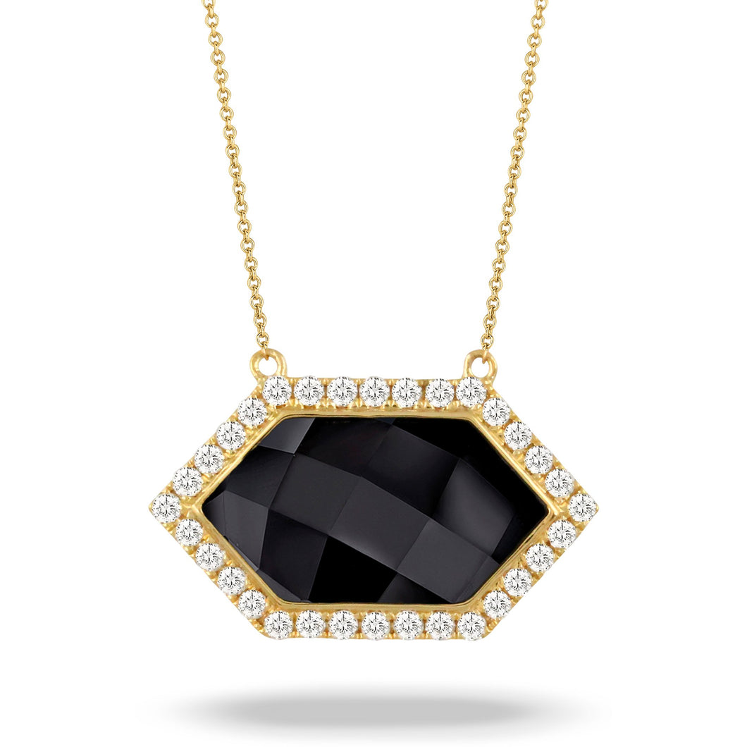 doves gatsby collection 18k yellow gold diamond necklace N9017BO