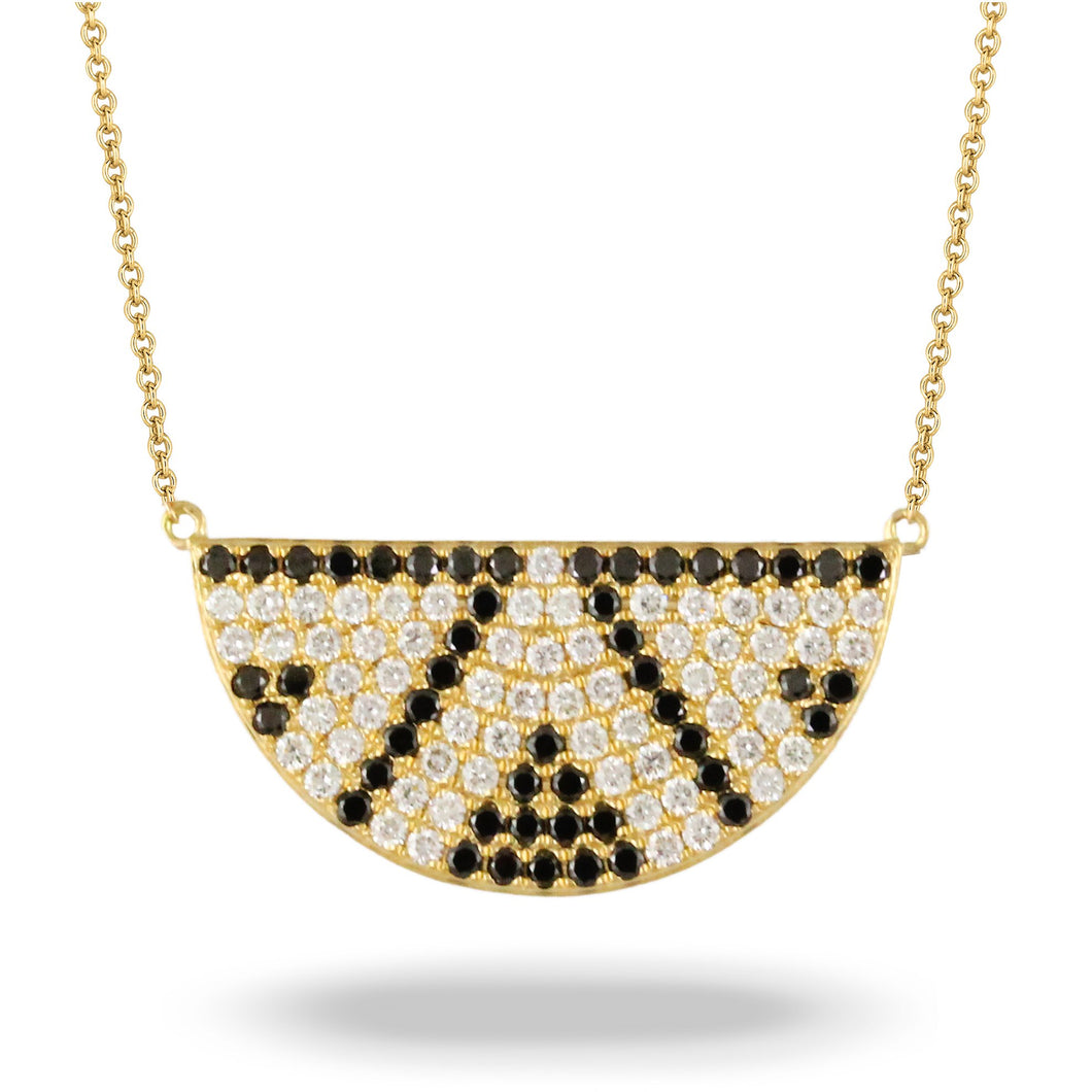 doves diamond fashion collection 18k yellow gold diamond necklace N9024BD