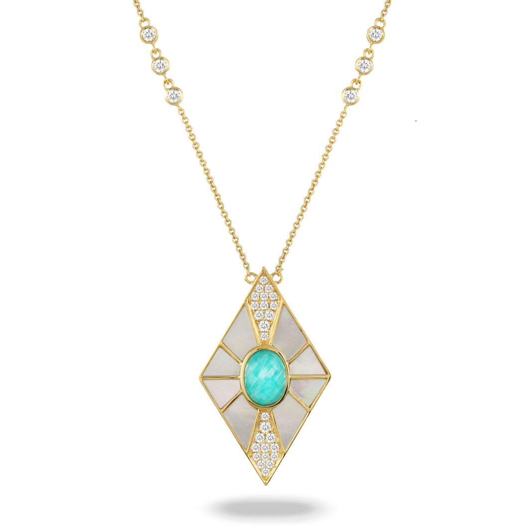 doves amazon breeze collection 18k yellow gold diamond necklace N9029AZMP