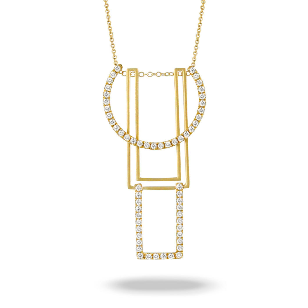 doves diamond fashion collection 18k yellow gold diamond necklace N9089