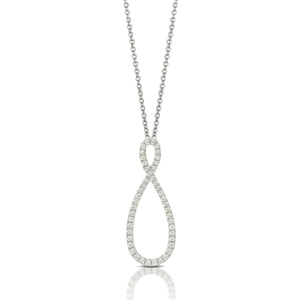 doves diamond fashion collection 18k white gold diamond pendant P6806