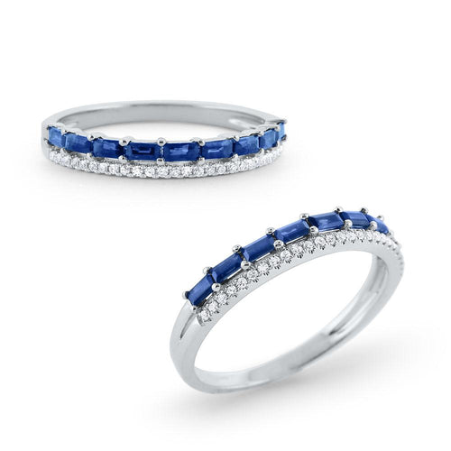 r6365 kc design sapphire & diamond band set in 14 kt. gold