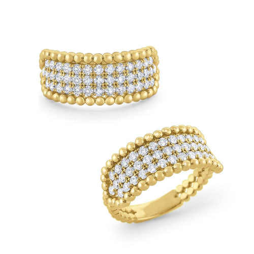 r6371 kc design diamond & 14 kt. gold milgrain ring