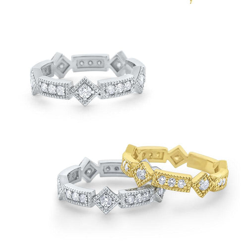 r6376 kc design diamond antique style ring set in 14 kt. gold