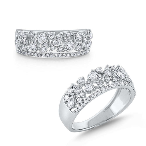 r7027 kc design diamond cascade band set in 14 kt. gold
