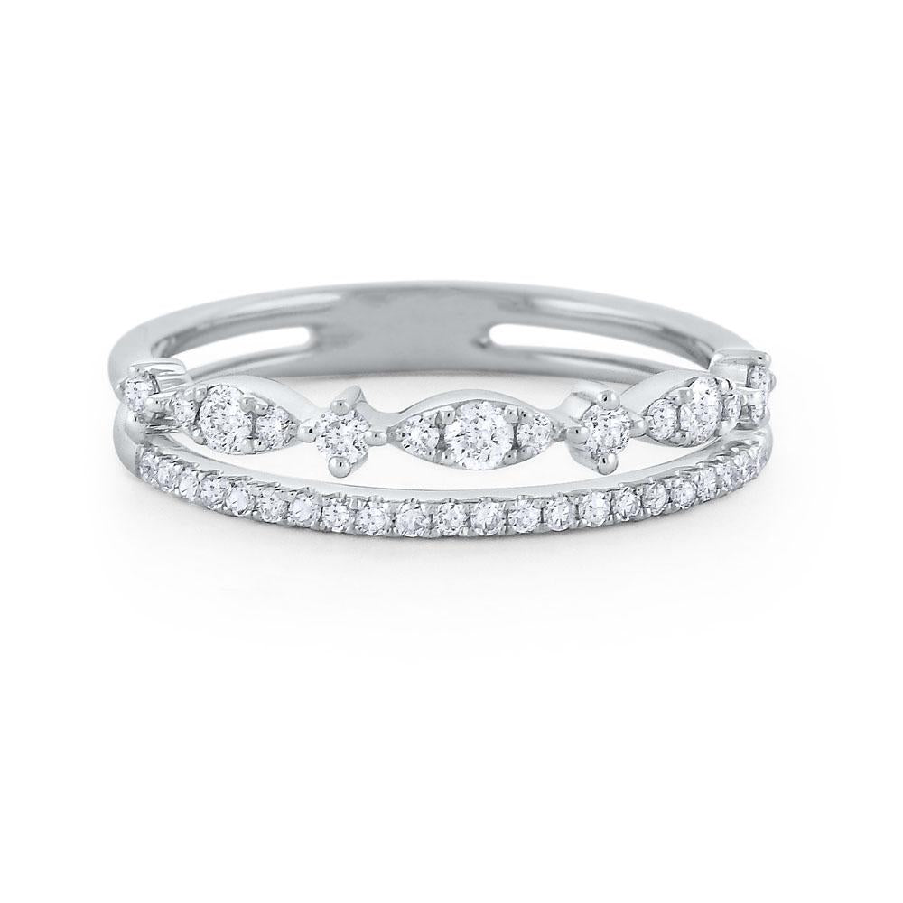 r7028 kc design diamond double line miracle marquise band set in 14 kt. gold
