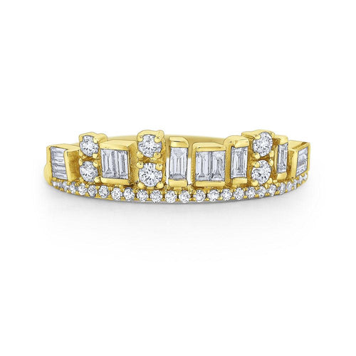 r7365 kc design diamond mosaic skyline band set in 14 kt. gold