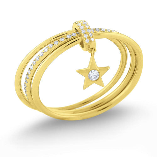 r7503 kc design diamond lucky charm star ring set in 14 kt. gold