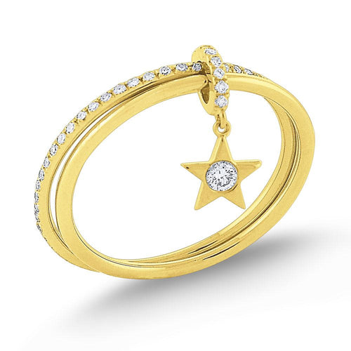 r7506 kc design diamond lucky charm star ring set in 14 kt. gold
