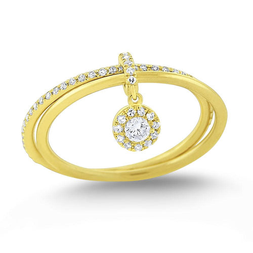 r7510 kc design diamond lucky charm ring set in 14 kt. gold