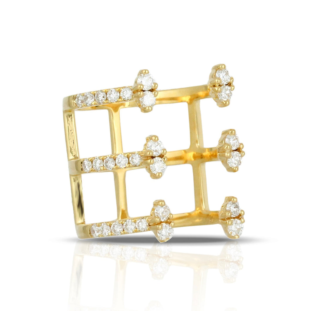 doves diamond fashion collection 18k yellow gold diamond ring R7625