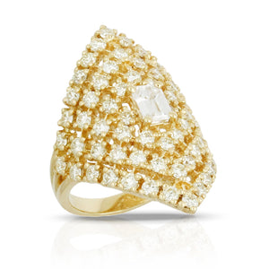 doves diamond fashion collection 18k yellow gold diamond ring R7664