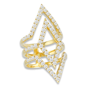 doves diamond fashion collection 18k yellow gold diamond ring R7855
