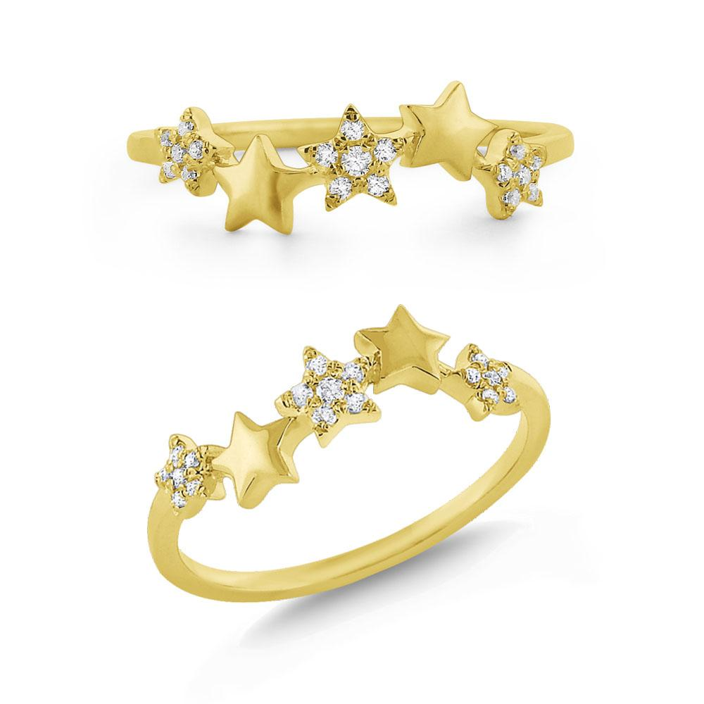 r7865 kc design 14k gold diamond star stack ring