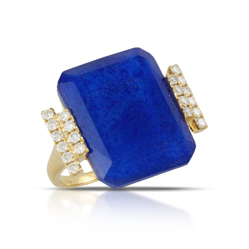 doves royal lapis collection 18k yellow gold diamond ring R8068LP