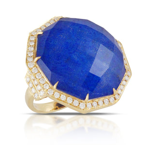 doves royal lapis collection 18k yellow gold diamond ring R8219LP