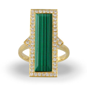 doves verde collection 18k yellow gold diamond ring R8305MC