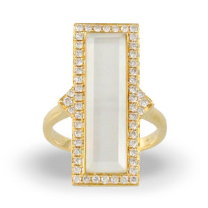 doves white orchid collection 18k yellow gold diamond ring R8305WMP