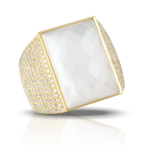 doves white orchid collection 18k yellow gold diamond ring R8715WMP