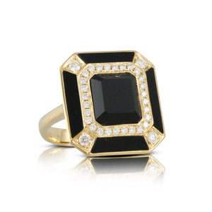 doves gatsby collection 18k yellow gold diamond ring R8804BO