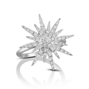 doves diamond fashion collection 18k white gold diamond ring R8850