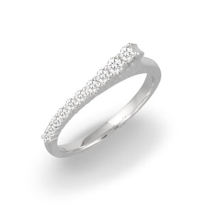 doves diamond fashion collection 18k white gold diamond ring R9021