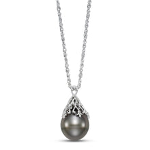 Load image into Gallery viewer, vintage-inspired tahitian pearl pendant necklace