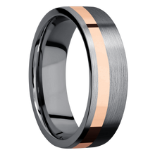 Load image into Gallery viewer, Tantalum Wedding Band With Polish & Satin Finish