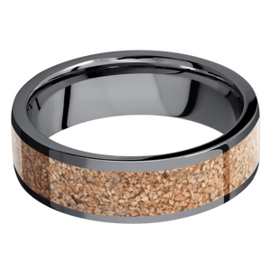 Tantalum Wedding Band With Polish Finish