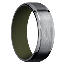 Load image into Gallery viewer, Tantalum Wedding Band With Satin & Polish Finish