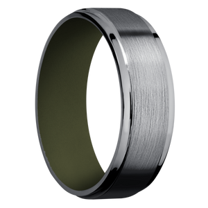 Tantalum Wedding Band With Satin & Polish Finish