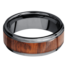 Load image into Gallery viewer, Hardwood Wedding Band With Satin & Polish Finish