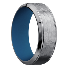 Load image into Gallery viewer, Tantalum Wedding Band With Hammer & Polish Finish