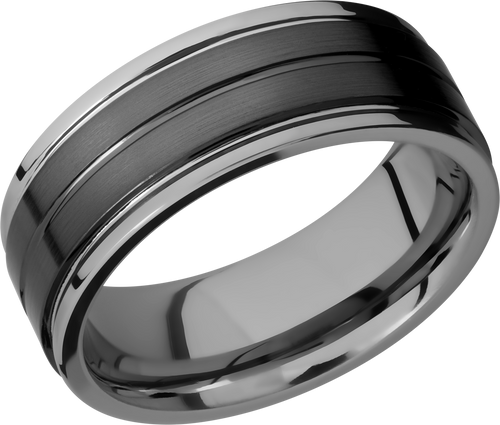 lashbrook tungsten ceramic collection ceramic and tungsten band