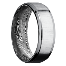 Load image into Gallery viewer, Tantalum Wedding Band With Cross Satin & Polish Finish
