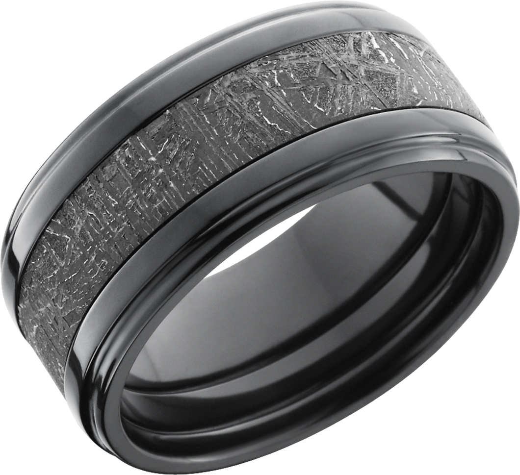 lashbrook meteorite zirconium 10mm flat band