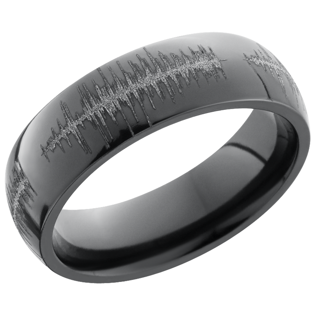 lashbrook zirconium collection zirconium 6mm domed band