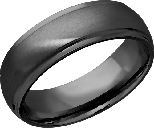 lashbrook classic zirconium 7mm domed band