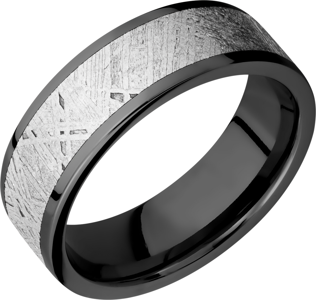 lashbrook meteorite zirconium 7mm flat band