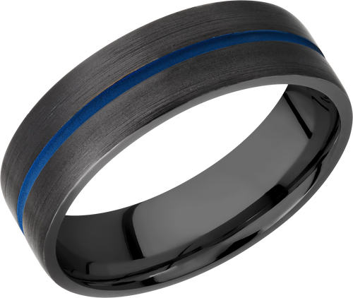 lashbrook classic zirconium 7mm flat band