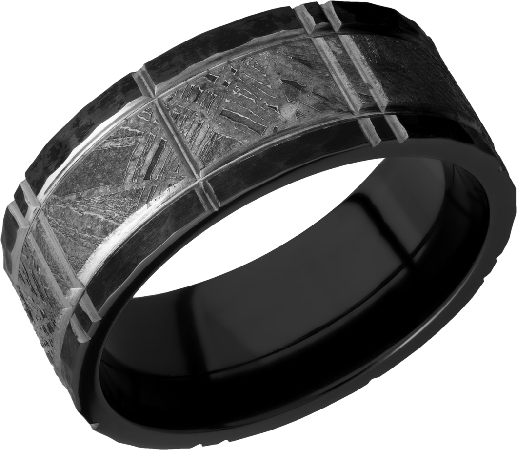 lashbrook meteorite zirconium 8mm flat band