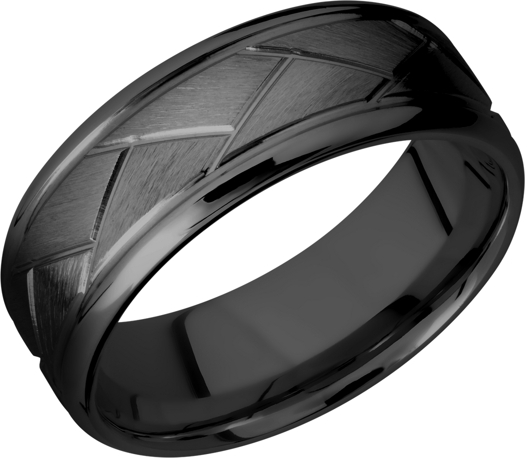 lashbrook zirconium collection zirconium 8mm beveled band