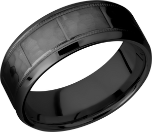 lashbrook zirconium collection zirconium 8mm band