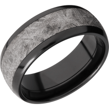 Load image into Gallery viewer, Meteorite Wedding Band With Polish Finish