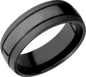lashbrook classic zirconium 8mm domed band