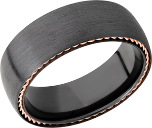 lashbrook zirconium collection zirconium 8mm domed band