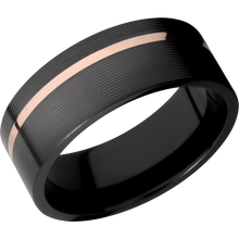 Load image into Gallery viewer, Zirconium Wedding Band With Polish & Machine Finish Finish