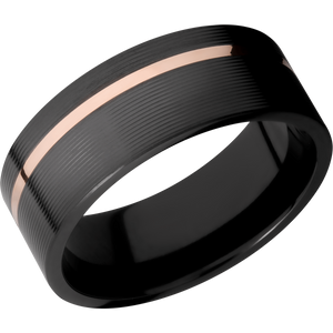 Zirconium Wedding Band With Polish & Machine Finish Finish