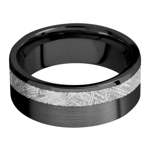 Meteorite Wedding Band With Satin Finish