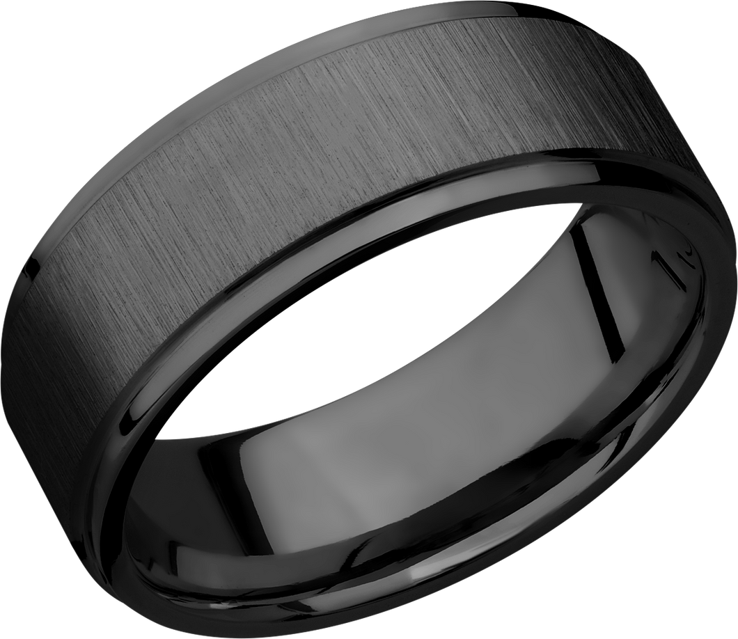 lashbrook zirconium collection zirconium 8mm flat band